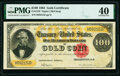 Large Size:Gold Certificates, Fr. 1210 $100 1882 Gold Certificate PMG Extremely Fine 40.. ...