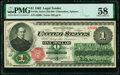 Fr. 16c $1 1862 Legal Tender PMG Choice About Unc 58
