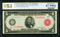 Fr. 836b $5 1914 Red Seal Federal Reserve Note PCGS Banknote Superb Gem Unc 67 PPQ