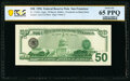 Third Printing on Back Error Fr. 2126-L $50 1996 Federal Reserve Note. PCGS Banknote Gem Unc 65 PPQ