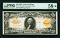 Large Size:Gold Certificates, Fr. 1187 $20 1922 Mule Gold Certificate PMG Choice About Unc 58 EPQ*.. ...