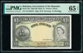 World Currency, Bahamas Bahamas Government 1 Pound 1936 (ND 1954) Pick 15b PMG Gem Uncirculated 65 EPQ.. ...