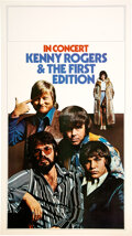 Music Memorabilia:Posters, Kenny Rogers & The First Edition 1971 Tour Blank Concert Poster. ...