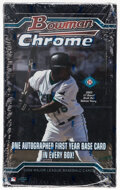 2004 Bowman Chrome Baseball Hobby Box With 18 Unopened Packs