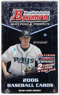 2006 Bowman Draft Picks & Prospects Baseball Unopened Hobby Box With 24 Packs