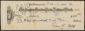 Autographs:Others, 1931 Ty Cobb Dual-Signed Check. ...