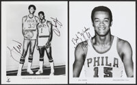 Lew Alcindor, Oscar Robertson, Hal Greer Signed Photographs, Lot of 2. ... (Total: 2 items)