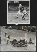 Football Collectibles:Photos, 1950s Pro Football Photographs - featuring Dante Lavelli & Jules Rykovich, Lot of 2....