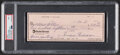 Autographs:Checks, 1981 Ted Williams Signed Check, PSA/DNA Mint 9. ...