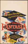 "Movie Posters:Animation, Fantasia (Buena Vista, R-1956). Very Fine. Window Card (14"" X 22""). Animation.. ..."
