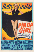 "Movie Posters:Musical, Pin Up Girl (20th Century Fox, 1944). Folded, Fine/Very Fine. One Sheet (27"" X 41""). Musical.. ..."