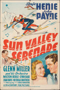 """Movie Posters:Musical, Sun Valley Serenade (20th Century Fox, 1941). Folded, Fine+. One Sheet (27"""" X 41"""") Style A. Musical.. ..."""