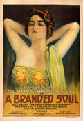 "Movie Posters:Drama, A Branded Soul (Fox, 1917). Fine- on Linen. One Sheet (28"" X 41"") Portrait Style.. ..."