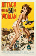 """Movie Posters:Science Fiction, Attack of the 50 Foot Woman (Allied Artists, 1958). Fine+ on Linen. One Sheet (27"""" X 41"""") Reynold Brown Artwork.. ..."""