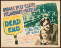 """Movie Posters:Crime, Dead End (United Artists, 1937). Fine. Title Lobby Card (11"""" X 14""""). Crime.. ..."""