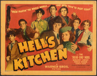 """Hell's Kitchen (Warner Bros., 1939). Very Fine-. Linen Finish Title Lobby Card (11"""" X 14""""). Crime"""