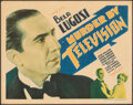 """Movie Posters:Horror, Murder By Television (Imperial-Cameo, 1935). Fine-. Title Lobby Card (11"""" X 14""""). Horror.. ..."""