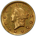 Gold Dollars: , 1849-D G$1 AU53 PCGS. PCGS Population: (26/175 and 0/1+). NGC Census: (17/260 and 0/4+). CDN: $2,150 Whsle. Bid for N...