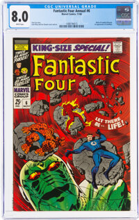 Fantastic Four Annual #6 (Marvel, 1968) CGC VF 8.0 White pages