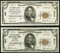 Pittsburgh, PA - $5 1929 Ty. 2 The Farmers Deposit National Bank Ch. # 685 Very Fine+; York, PA - $5 1929 Ty. 2... (Tota...