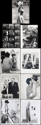 """Le Mepris (Embassy, 1964). Overall: Very Fine-. Photos (11) (8"""" x 10"""") & Behind the Scenes Photos (2) (7&q..."""