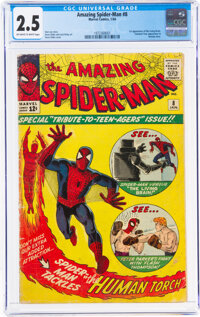 The Amazing Spider-Man #8 (Marvel, 1964) CGC GD+ 2.5 Off-white to white pages
