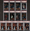 Basketball Cards:Lots, 1996-2003 Finest & Topps Chrome Basketball PSA Graded Rookie Collection (13) With Iverson & Marbury....