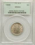 Liberty Nickels: , 1898 5C MS64 PCGS. PCGS Population: (237/155). NGC Census: (152/101). CDN: $275 Whsle. Bid for NGC/PCGS MS64. Mintage 12,53...