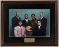 Football Collectibles:Photos, 1998 Green Bay Packers Oversized Playoff Captains Photograph from The Brett Favre Collection....