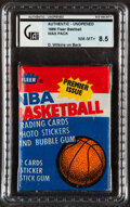 Basketball Cards:Unopened Packs/Display Boxes, 1986 Fleer Basketball Unopened Wax Pack GAI NM-MT+ 8.5 - Dominique Wilkins on Back. ...