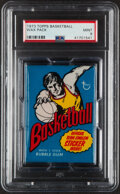 Basketball Cards:Unopened Packs/Display Boxes, 1973 Topps Basketball Unopened Wax Pack PSA Mint 9....