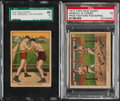 Boxing Cards:General, 1910 T223 Dixie Queen Boxing PSA/SGC Graded Pair (2). ...