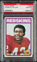Football Cards:Singles (1970-Now), 1972 Topps Charlie Taylor #334 PSA Gem Mint 10....