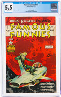 Golden Age (1938-1955):Science Fiction, Famous Funnies #214 (Eastern Color, 1954) CGC FN- 5.5 White pages....