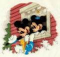 Animation Art:Production Cel, School Days in Disneyville Mickey and Minnie Mouse with Donald Duck Original Book Cel Art (Walt Disney, 1939).... (Total: 2 Items)