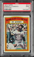 Baseball Cards:Singles (1970-Now), 1972 Topps Roberto Clemente (In Action) #310 PSA Mint 9....