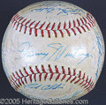 Miscellaneous, 1960 PITTSBURGH PIRATES TEAM SIGNED BALL. A 1960 Pittsburgh P...