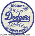 Miscellaneous, BROOKLYN DODGER PATCH. As if anticipating the glory of their her...