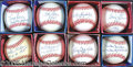 Miscellaneous, SINGLE SIGNED AUTOGRAPH BALL COLLECTION. Each of the eight ba...