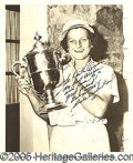 Miscellaneous, BABE DIDRIKSON SIGNED PHOTO. It's possible that Babe Didrikson w...