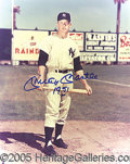 "Miscellaneous, MANTLE SIGNED 8"" X 10"". Obviously signed much later than the ori..."