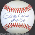 Miscellaneous, PETE ROSE SINGLE SIGNED BALL. Now, this onedisplays as ...