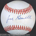 Miscellaneous, JOE SEWELL SINGLE SIGNED BALL. We would think that shortstop ...