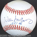 Miscellaneous, WILLIE MCCOVEY SINGLE SIGNED BALL. Much as Mathews was to Aar...