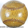 Miscellaneous, 1933 NEW YORK YANKEES TEAM SIGNED BALL. We'd dearly love to d...
