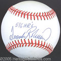 Miscellaneous, FRANK ROBINSON SINGLE SIGNED BALL. Theglory of his perf...