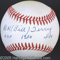 Miscellaneous, BILL TERRY SINGLE SIGNED BALL. Indeed, he was the last Nation...