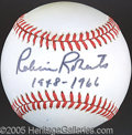 Miscellaneous, ROBIN ROBERTS SINGLE SIGNED BALL. His panorama of pitching he...