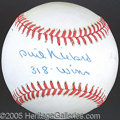 Miscellaneous, PHIL NIEKRO SINGLE SIGNED BALL. Knuckleballers never have...