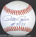 Miscellaneous, PETE ROSE NOTATED BALL. Relegating all the dialog to pun...
